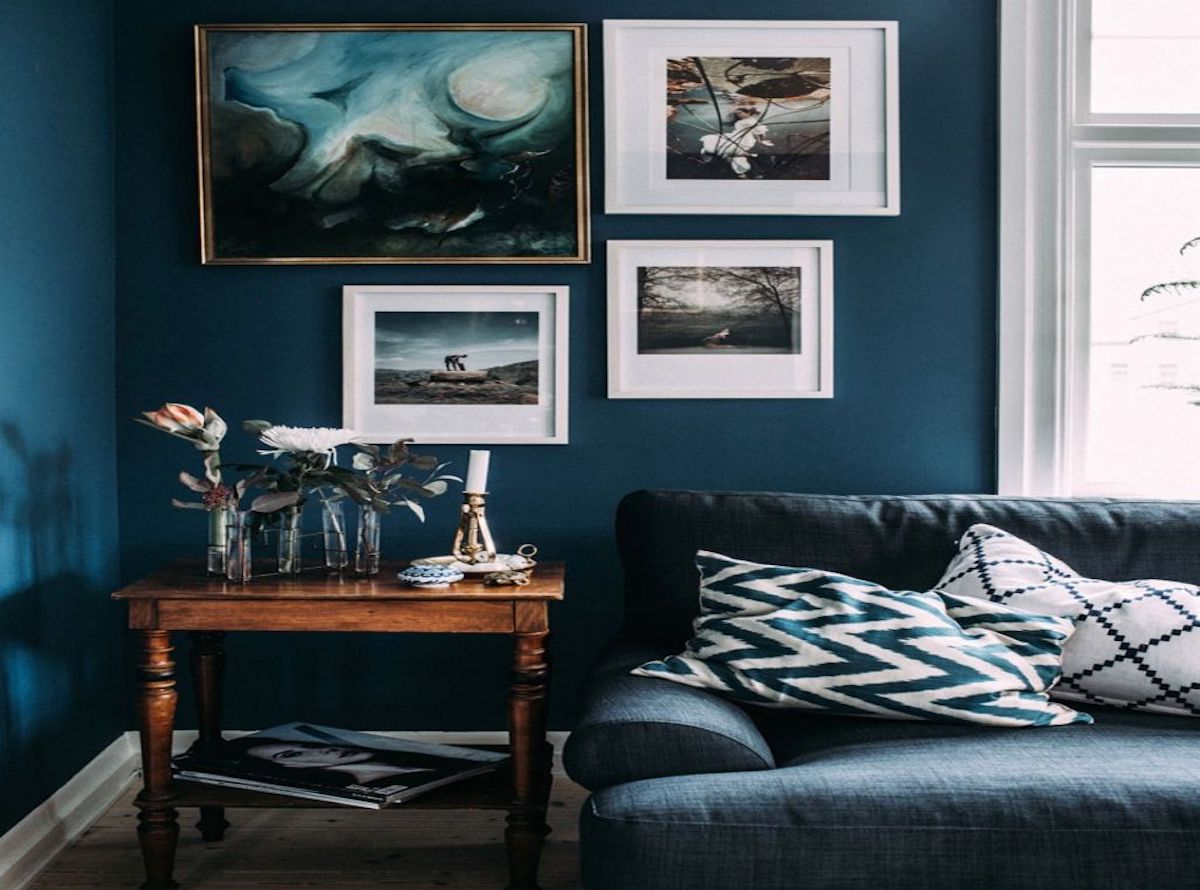 awesome salon bleu canard et gris gallery awesome interior home satellite. Black Bedroom Furniture Sets. Home Design Ideas