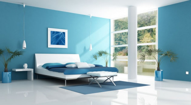 Chambre Bleue : Froid de canard deco bleu clem around the corner
