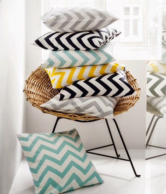 Collection HM Home coussin chevrons