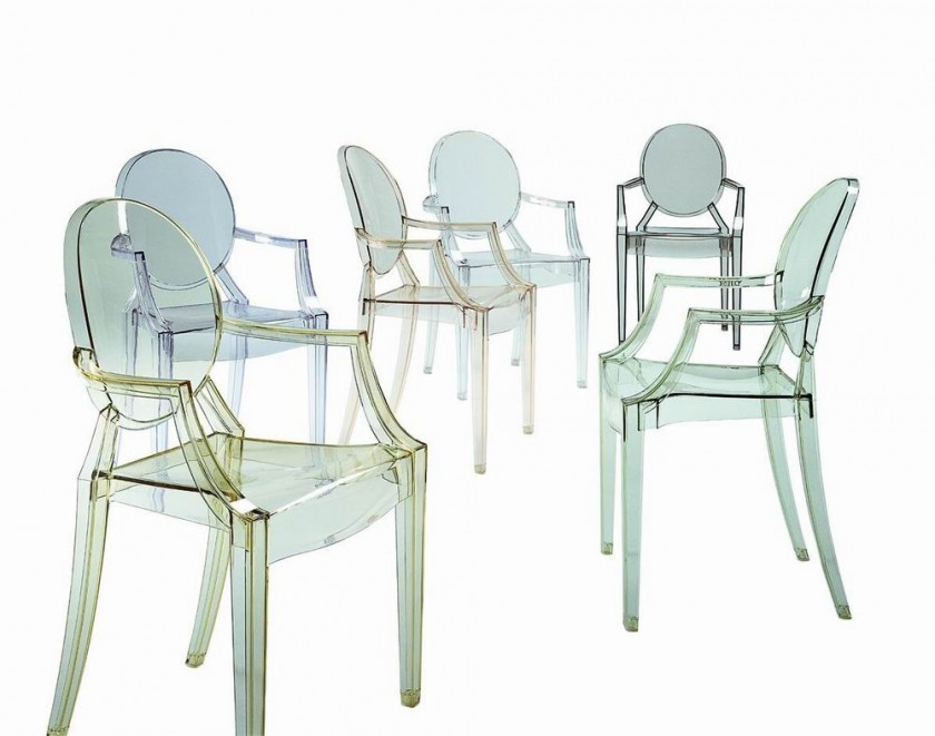 louis ghost chaises transparentes starck