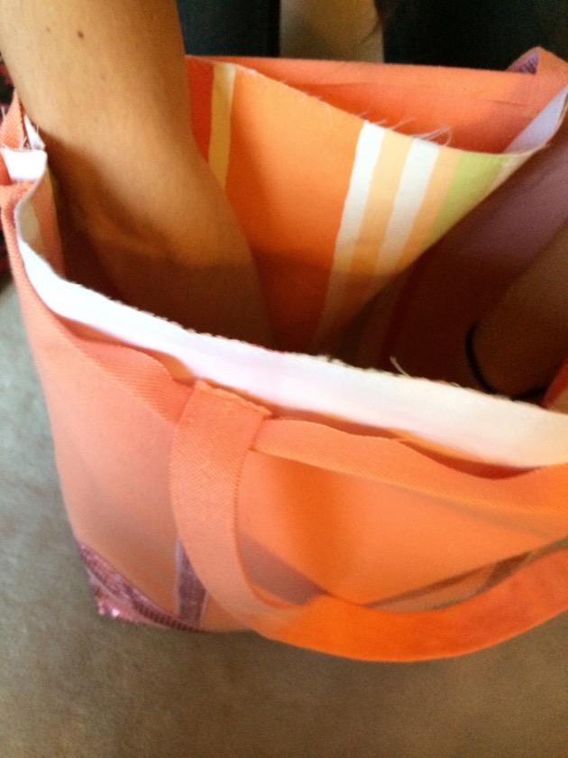 coudre doublure avec sac cabas plage à rangement patron gratuit