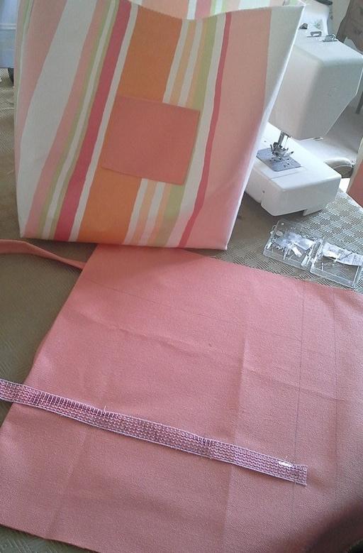 création déco blog couture sac toile rigide clem around the corner