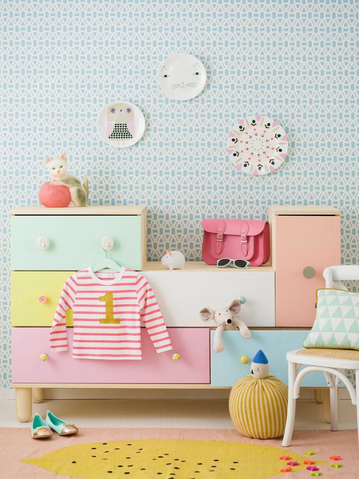 chambre couleur pastel pour enfant