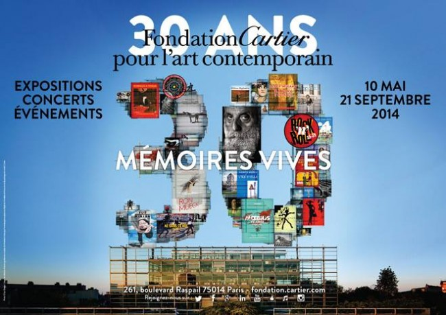 Expo Memoires Vives Fondation Cartier. Paris Design week 2014.