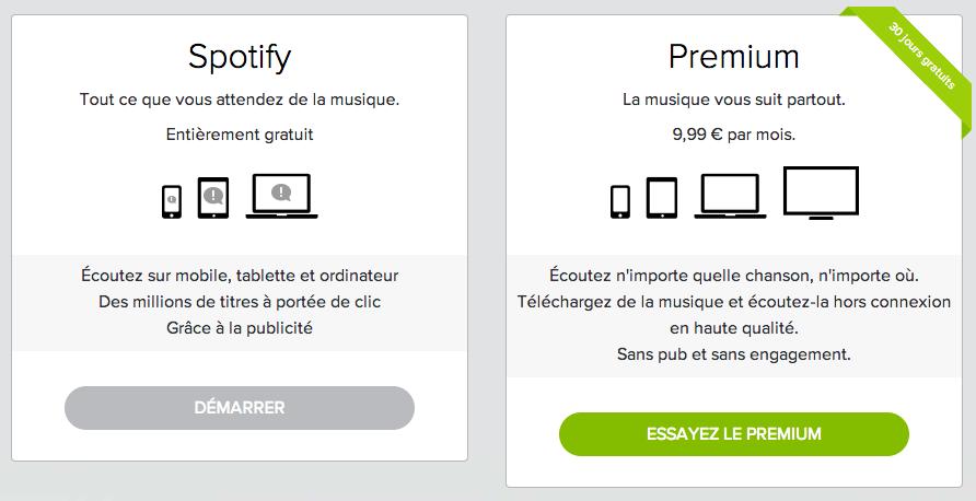 Abonnement Spotify - 9,99€/mois
