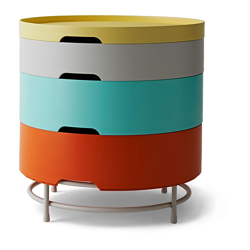 Table de rangement, multicolore - 69,90 €