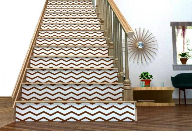 Escaliers et contremarche d corative clem around the corner - Peindre contremarche escalier ...
