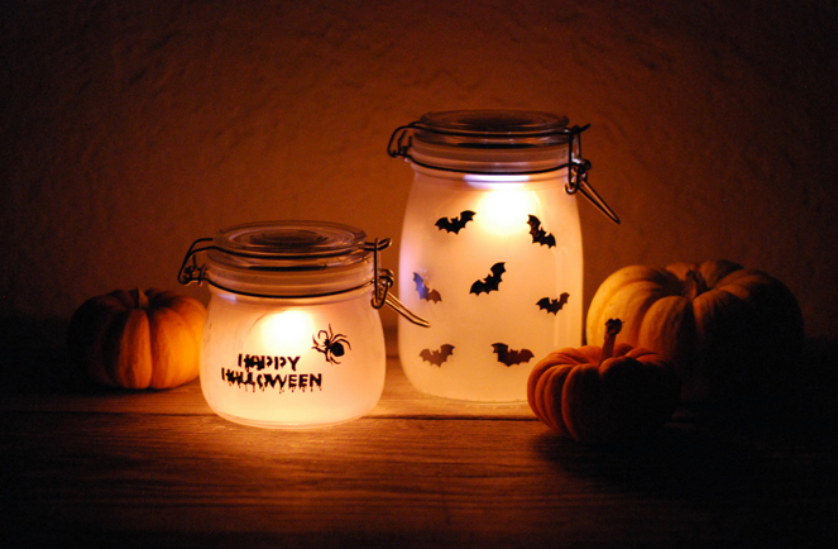 Halloween bougeoir photophore diy
