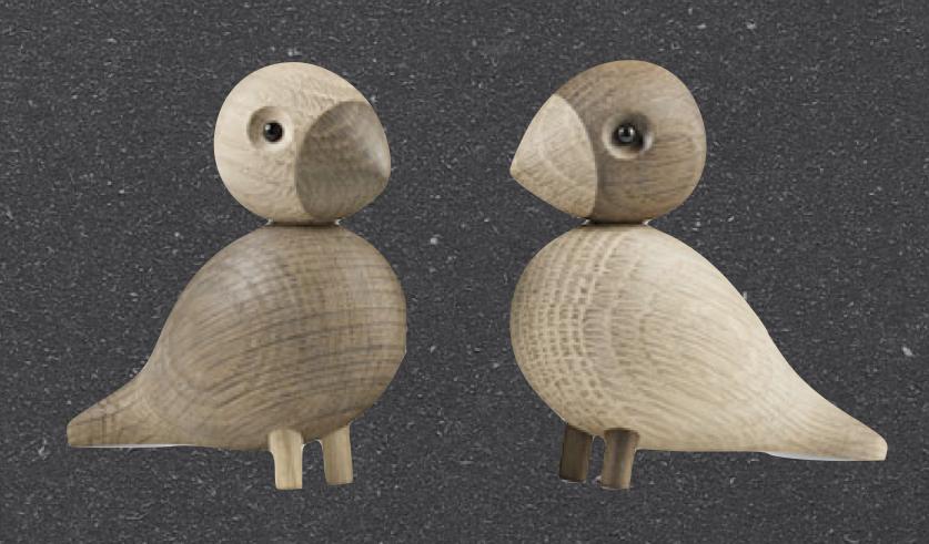 OIseaux en bois Lovebirds by K. Bojensen - 107€ (les 2)