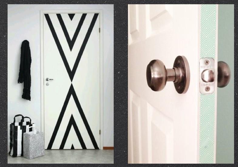 déco masking tape Porte customizer, décorer
