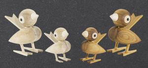 Oiseaux en bois Gunnar by L. Kaas - Sentou - 45€