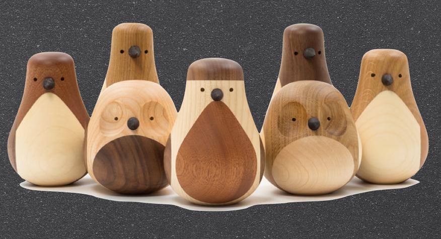 Oiseaux en bois Re-turned by L. Beller Fjetland - Disicpline - 69€