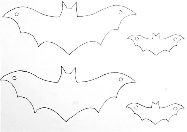 DIY pour Halloween chauve souris patron guirlande