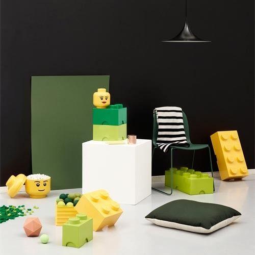 Boite géante de rangement tête de Lego.