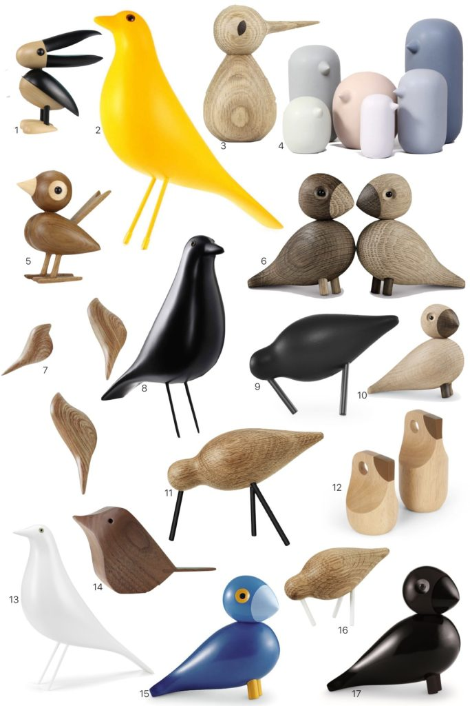 où trouver oiseaux en bois pas cher statuette statue décoration - blog déco - clem around the corner