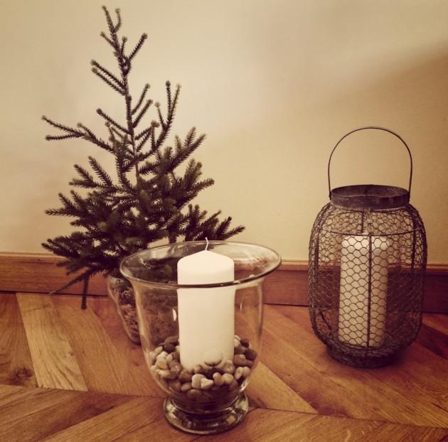 Décoration de Noël Etsy min sapin artificiel bougie