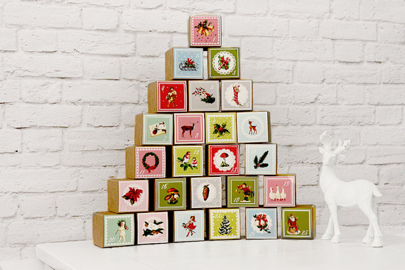 Vintage Advent Calendar chez Etsy - 23,99€