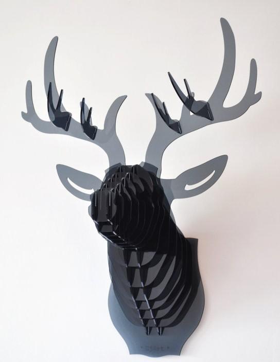 Trophee tete de cerf renne hjort décoration de Noël Etsy plexiglas translucide