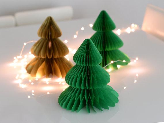 Arbre sapin décoration de Noël Etsy crepon
