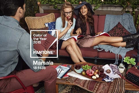 Marsala color of the year 2015. Pantone clem around the corner.