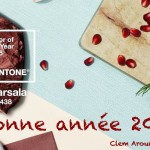 Bonne annee Clem around the corner marsala pantone 2015