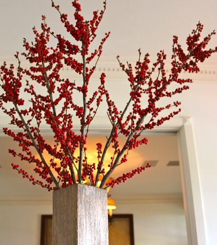 red berry branches deco home decor interior