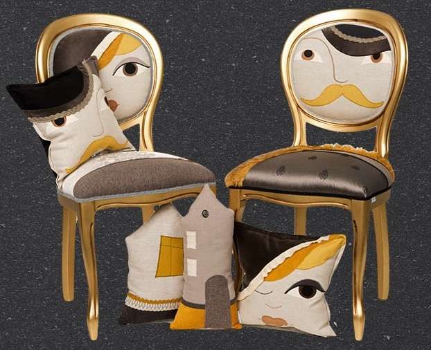 Chaise Him&Her gold - 570€