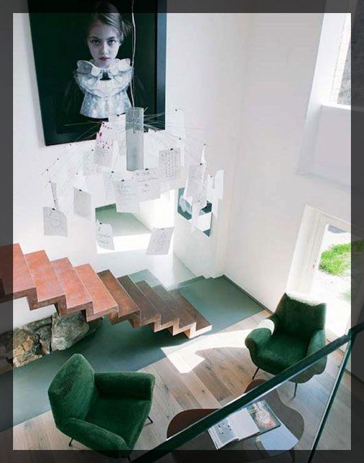 Interieur vert ClemAroundTheCorner.