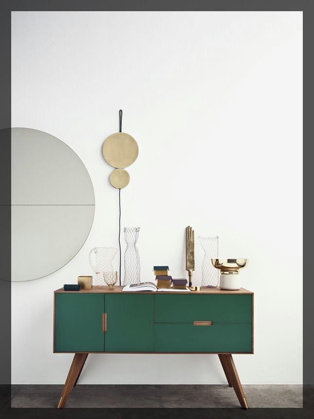 Meuble salon vert ClemAroundTheCorner.