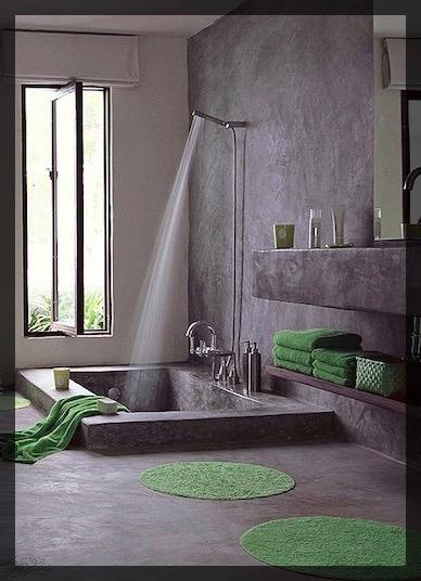 Salle de bain verte ClemAroundTheCorner.