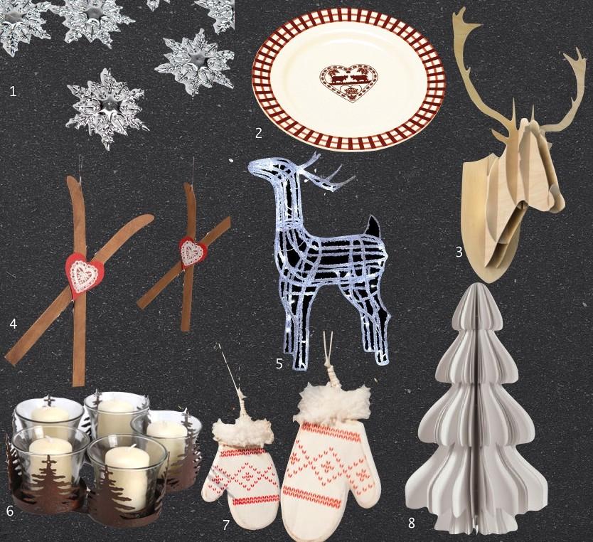 table de fêtes déco ambiance chalet montagne noël jour de l'an