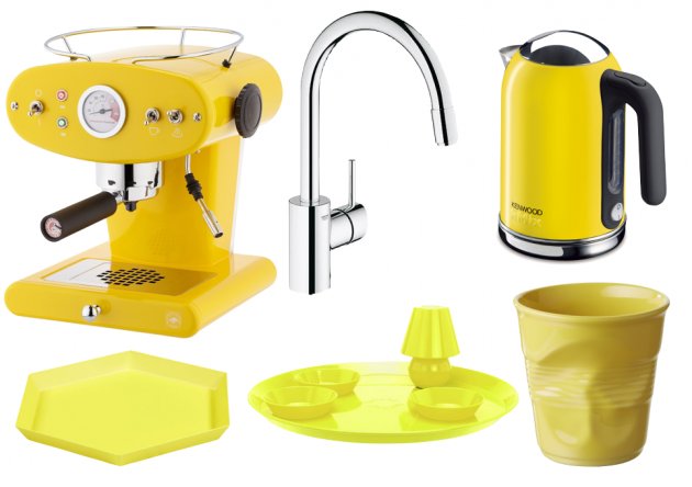 Carnet d 39 inspiration pour cuisine jaune clem around the for Soldes accessoires cuisine