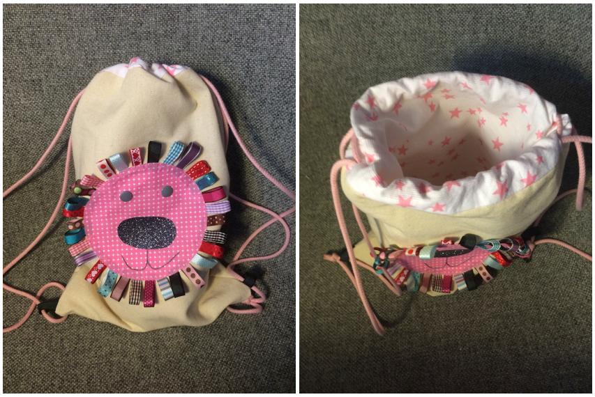 Tuto couture sac à dos. Un tutoriel pas à pas pour coudre un sac a dos enfant avec une jolie tête de lion. DIY.