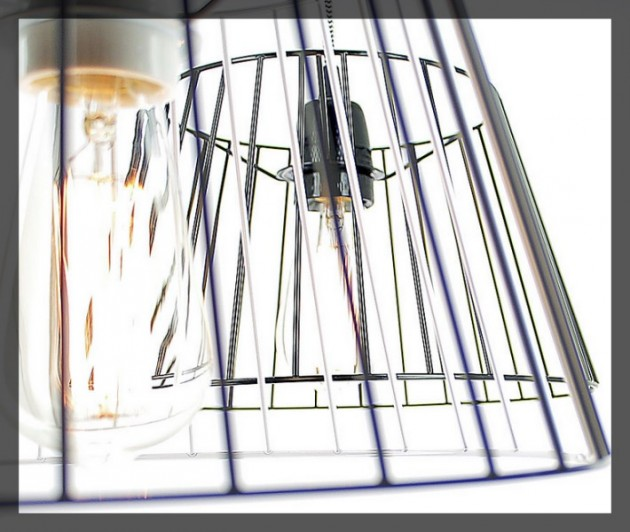 lampe baladeuse Suspension cage acier Nexel Sari
