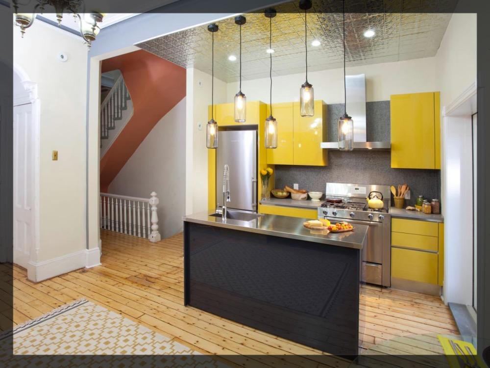 Yellow kitchen clem around the corner