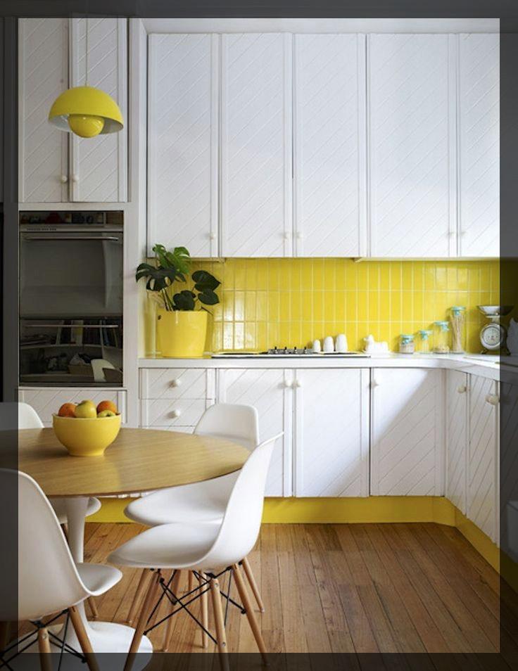 Carrelage jaune interieur deco. Clem Around The Corner