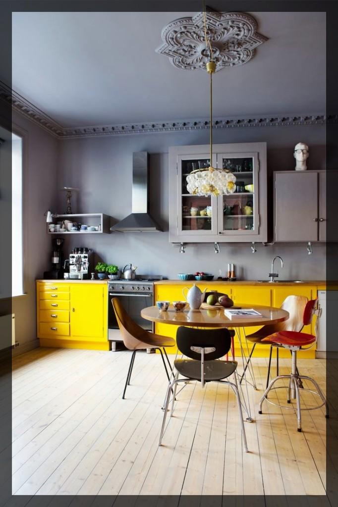 cuisine jaune interieur. deco. Clem Around The Corner