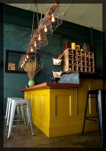 cuisine jaune. interieur deco Clem Around The Corner