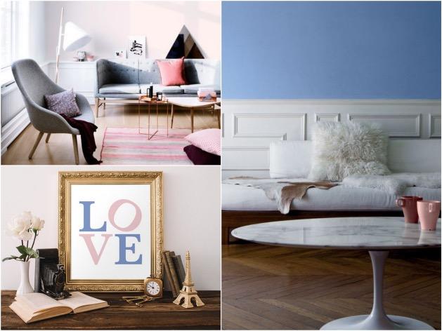 inspiration idee deco rose quartz et serenity blue bleu