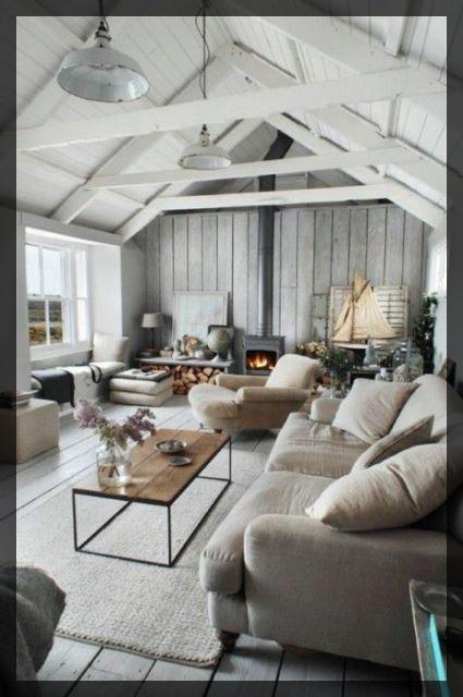 Aménager ses combles petit salon cosy sous les toits