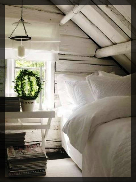 Chambres dans les combles.