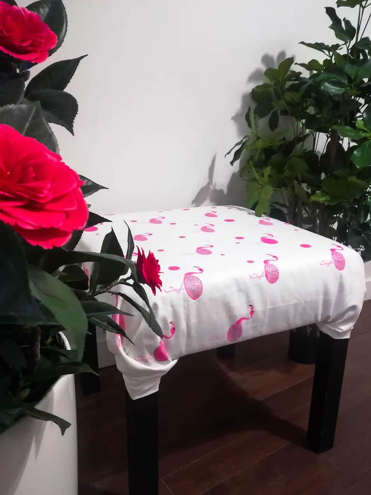 lack ikea hack pouf final rose