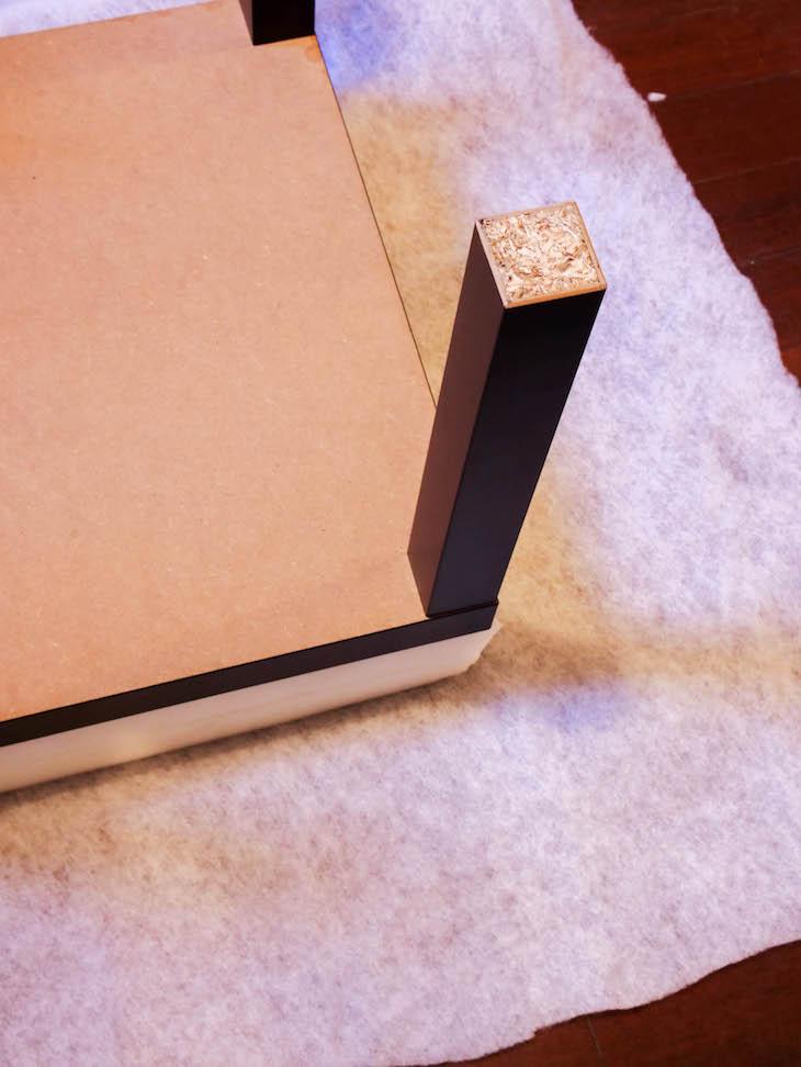 lack ikea hack pouf mousse table