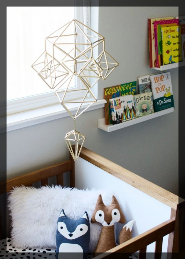 DIY Mobile chambre d'enfant. www.clemaroundthecorner.com