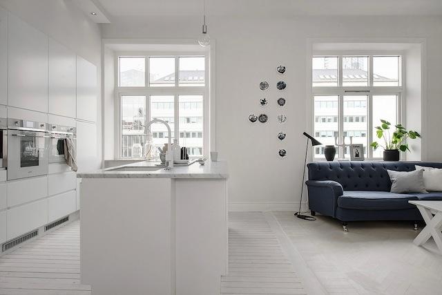 Un int rieur blanc calme et lumi re clem atc for Calme interieur