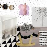 chambre bébé style scandinave noir et blanche