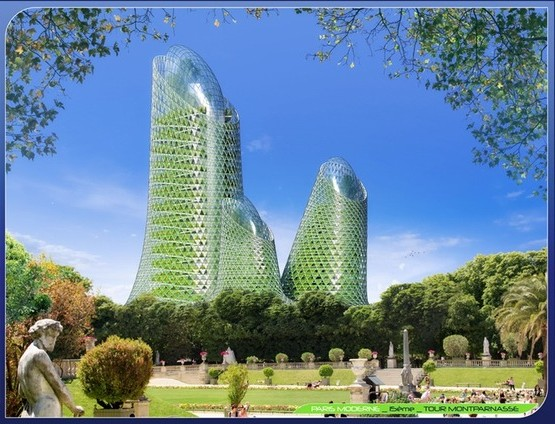 Vincent Callebaut Architecte. PHOTOSYNTHESIS TOWERS : Tour Montparnasse.