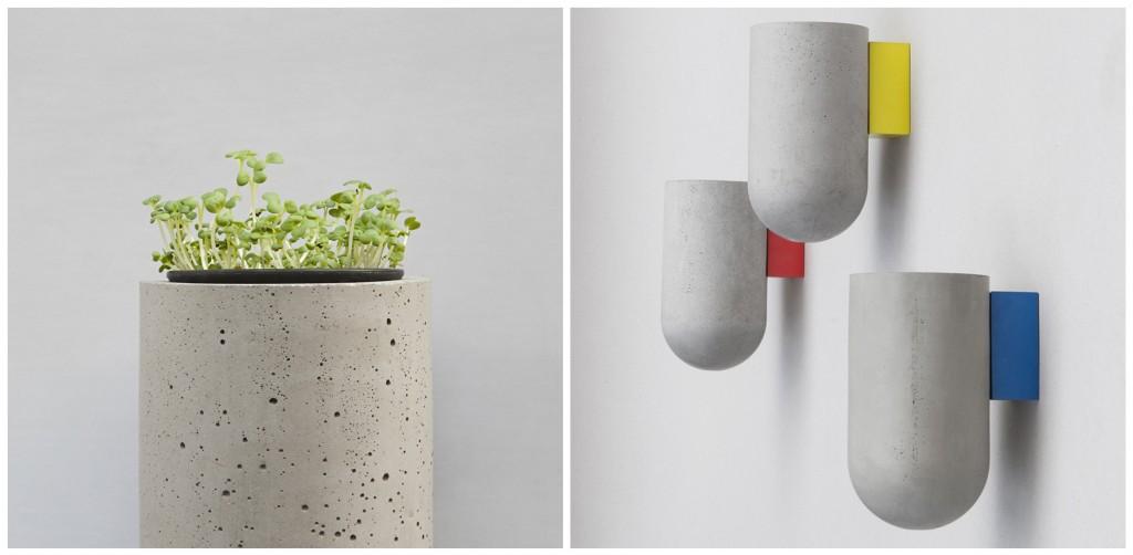 Bentu design vase en bois et béton recyclé. Design et recyclage. www.clemaroundthecorner.com.