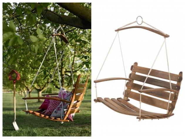 Balancelle en chêne pour The Conran Shop - 495€. Banc en bois massif, balançoire.