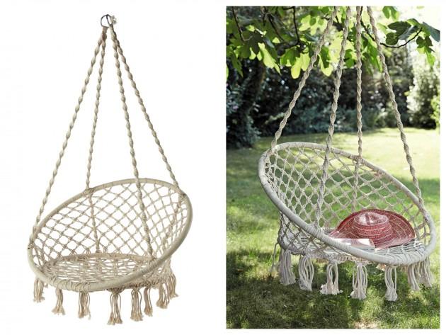 Fauteuil de jardin Gabriela by Maisons du monde - 89,99€. Chaise hamac suspendu romantique.